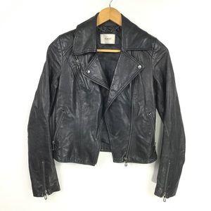 PUNTO | Leather Crop Moto Jacket